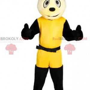 Malý pes maskot v žluté sportovní oblečení - Redbrokoly.com