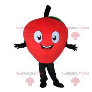 Cute and happy strawberry mascot - Redbrokoly.com
