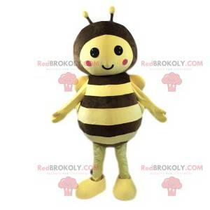 Maskottchen zu süße kleine Biene mit ihren Antennen -