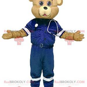 Sand bear mascot in first aid outfit - Redbrokoly.com