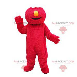 Mascote monstro vermelho engraçado - Redbrokoly.com
