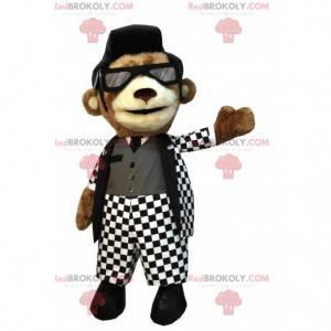 Brown bear mascot, rock'n'roll dancer - Redbrokoly.com