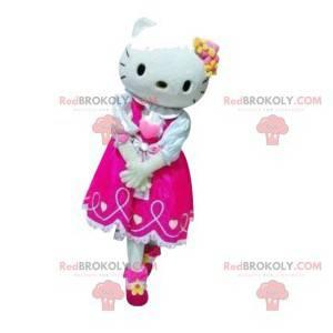 Mascotte Hello Kitty met haar fuchsia jurk - Redbrokoly.com