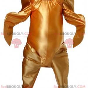 Gylden kyllingemaskot. Kylling kostume - Redbrokoly.com