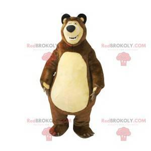 Mascot paunchy brown bear. Brown bear costume - Redbrokoly.com