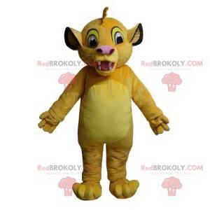 Mascot Simba, de leeuwenwelp van de Lion King - Redbrokoly.com
