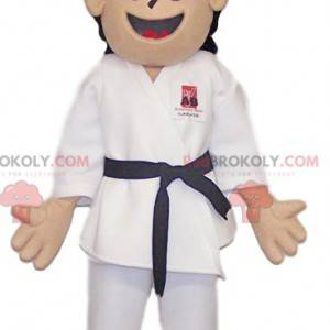 Sort bælte niveau karateka maskot - Redbrokoly.com