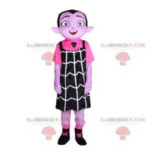 Mascot little vampire girl with a black dress - Redbrokoly.com