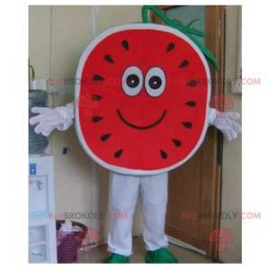 Super süßes und fröhliches Wassermelonenmaskottchen -