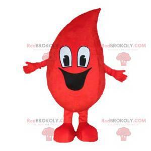 Smiling blood drop mascot. Blood drop costume - Redbrokoly.com