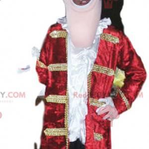 Captain Hook Maskottchen mit einer schönen roten Jacke -