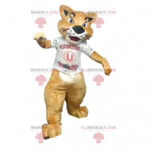 Maskotka Cougar w koszulce kibica. - Redbrokoly.com
