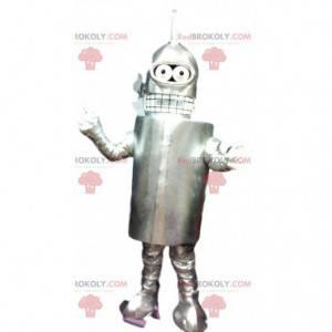 Robot alieno grigio mascotte. Costume da robot - Redbrokoly.com