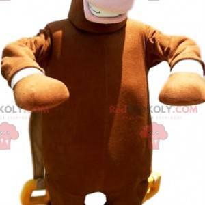 Brown donkey mascot with a beautiful mane - Redbrokoly.com