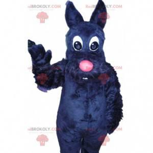 Small black dog mascot with its pink muzzle - Redbrokoly.com