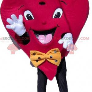 Heart mascot with a small hat and a bow tie - Redbrokoly.com