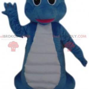 Blaues Dinosaurier-Maskottchen. Blaues Dinosaurierkostüm -