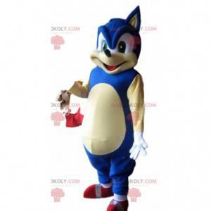 Sonic mascot, the famous blue hedgehog from Sega -