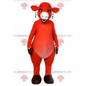 Maskottchen rote Kuh, lachende Kuh - Redbrokoly.com