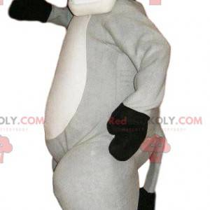 Super fröhliches graues Esel-Maskottchen. Graues Eselkostüm -