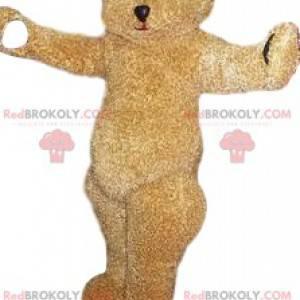 Beige bear mascot. Beige bear costume - Redbrokoly.com