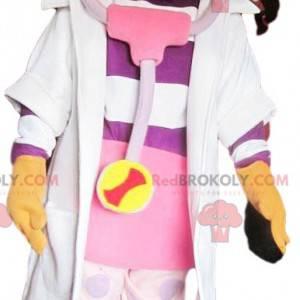 Mała dziewczynka maskotka ubrana jak pielęgniarka -