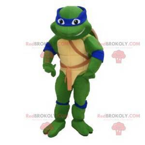 Mascotte Leonardo, la tartaruga ninja con una fascia blu -