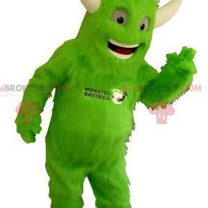 Všechny maskované chlupaté zelené monstrum s rohy -