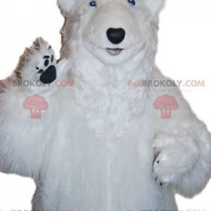 Majestatyczna maskotka niedźwiedzia polarnego. Kostium