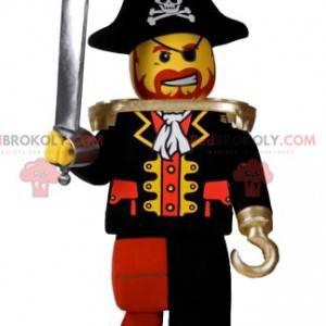 Mascotte playmobil pirata con un bellissimo cappello -