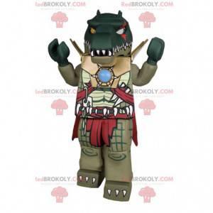 Mascote de dinossauro super feroz. Fantasia de dinossauro -