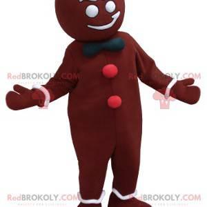 Brown and white Christmas gingerbread mascot - Redbrokoly.com