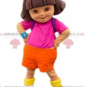 Mascote Dora, a Exploradora. Fantasia dora - Redbrokoly.com