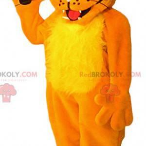 Orange Löwenbaby Maskottchen. Löwenjunges Kostüm -