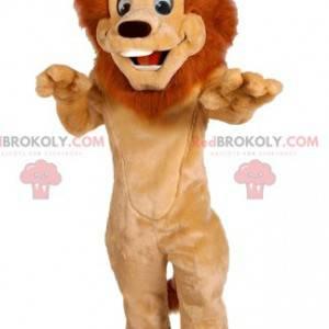Lion mascot with a beautiful mane. Lion costume - Redbrokoly.com