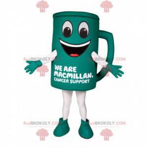 Mascot green coffee cup. Coffee cup costume - Redbrokoly.com