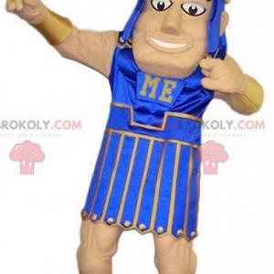 Mascote do guerreiro romano. Traje de guerreiro romano. -
