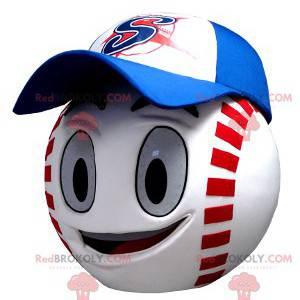 Maskot hlavy ve tvaru obřího baseballu - Redbrokoly.com