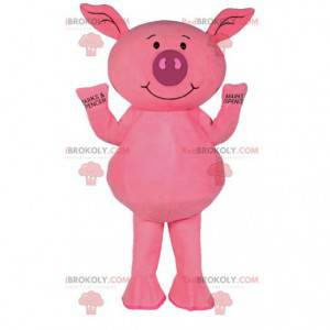 Mascot cerdito rosa. Disfraz de cerdo rosa. - Redbrokoly.com
