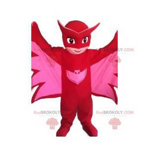 Maskotka mała bohaterka w różowy nietoperz - Redbrokoly.com