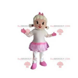 Maskotka owca ze spódnicą i różową kokardką - Redbrokoly.com