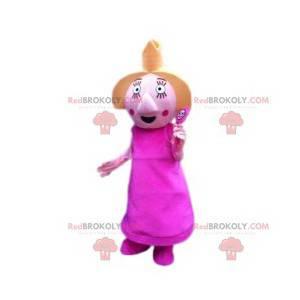 Princesa mascote com varinha mágica - Redbrokoly.com