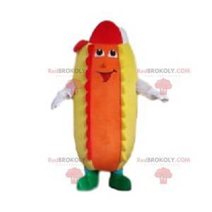 Mascot rigilo pølse med ketchup og sennep - Redbrokoly.com