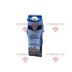 Niebiesko-biała cegła maskotka mleka. - Redbrokoly.com