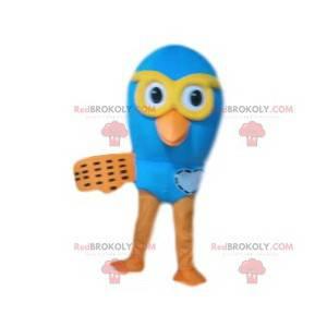 Blue bird mascot. Bird costume - Redbrokoly.com