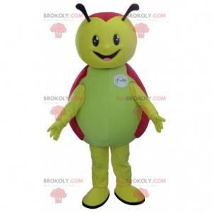 Groen en rood lieveheersbeestje mascotte - Redbrokoly.com