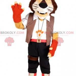 Maskot Lion s kalhotami a bílou košili - Redbrokoly.com