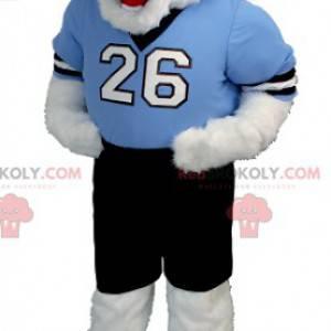 Teddybär Maskottchen in blau und schwarz Outfit - Redbrokoly.com