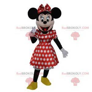 La mascotte Minnie, la fidanzata di Topolino. Costume di Minnie