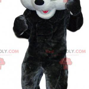 Maskot hvid og grå mus. Mus kostume - Redbrokoly.com
